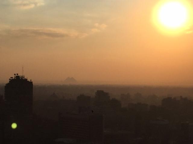 kair zachód słońca