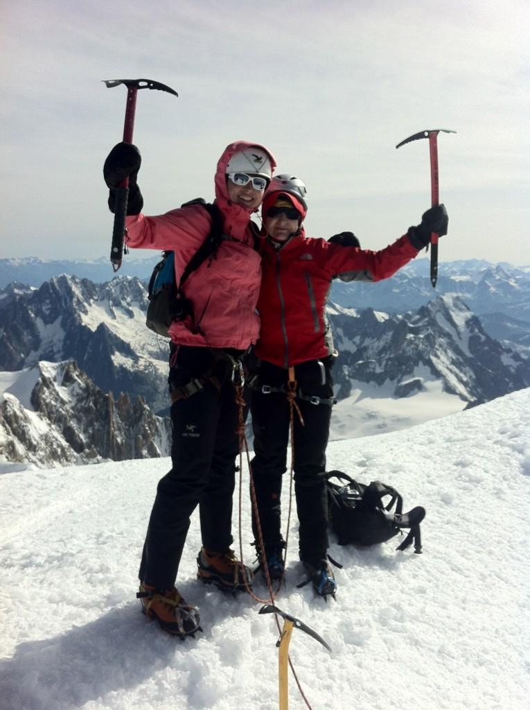 4_z Magdą Rakowską na szczycie Mt Blanc